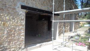 ouverture mur en pierre ipn en poutre linteau