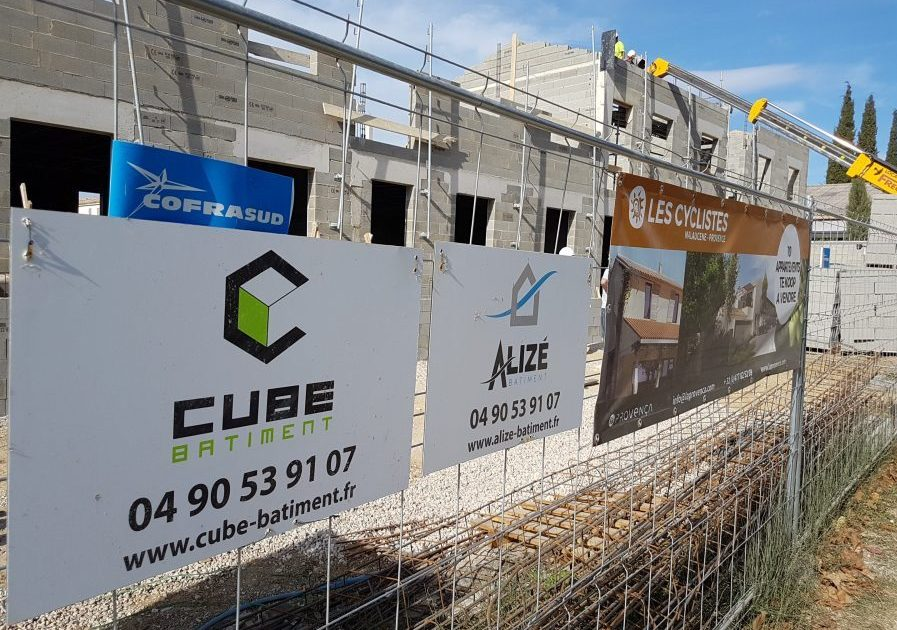 chantier cube signalétique panneau