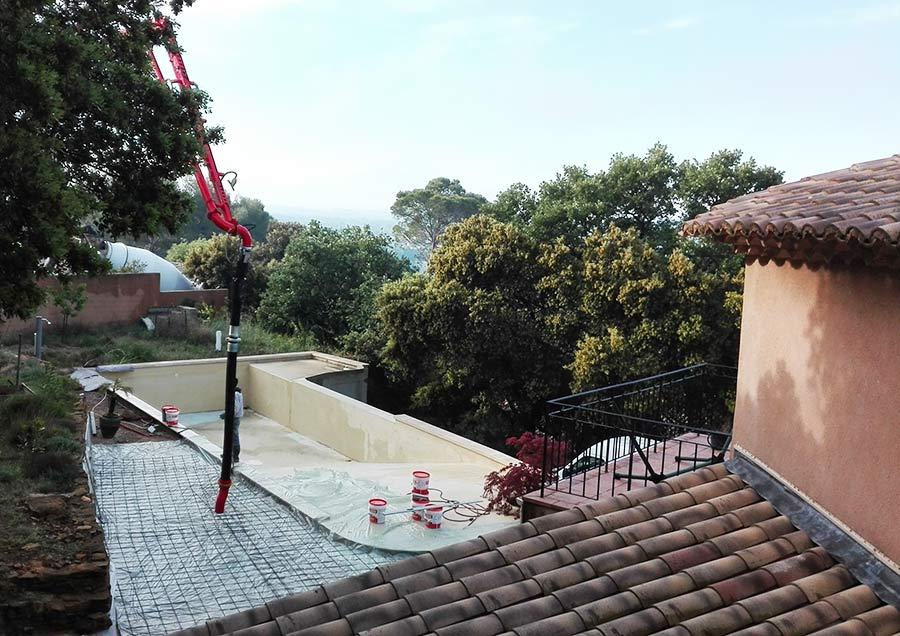 Piscine, terrasse