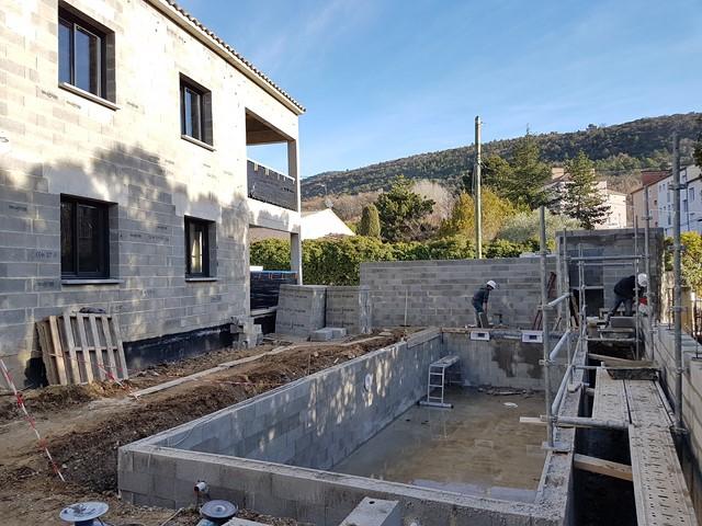 Réalisation d'une piscine